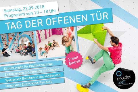 Tag der offenen Tür am 22.9.2018 in der Boulderwelt Frankfurt