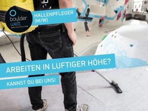 Stellenausschreibung: Hallenpfleger (m/w) in der Boulderwelt München Ost