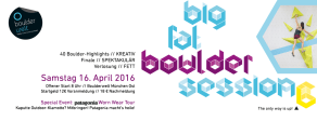 Banner zur Big Fat Boulder Session 6 - 2016