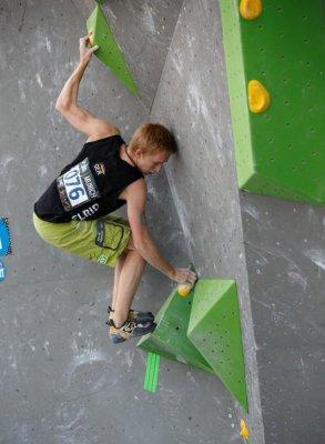 Alex vom Boulderwelt Athletenteam startet beim Boulder Worldcup München 2017.