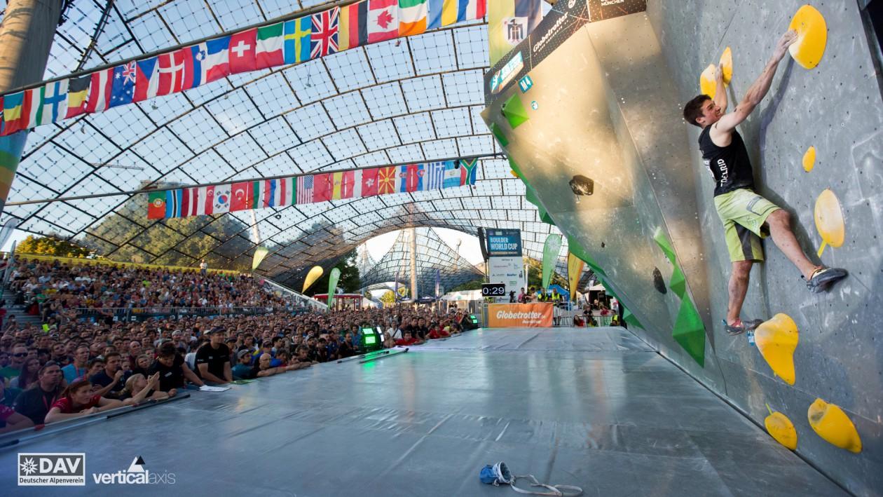 Der Boulder Wolrdcup in München 2017 steht vor der Tür.