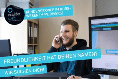 Stellenausschreibung: Kundenservice im Kurswesen (m/w) in der Boulderwelt München Ost