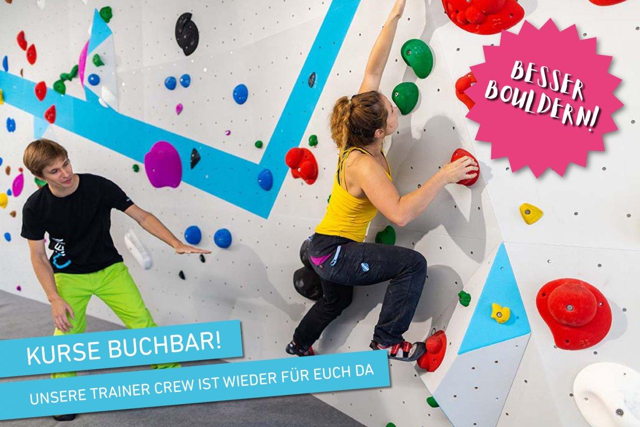 Kursprogramm der Boulderwelt München Ost während Corona