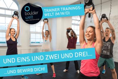 Die Boulderwelt München West sucht Trainer (m/w/d) für Fintness- und Functional Training Kurse.