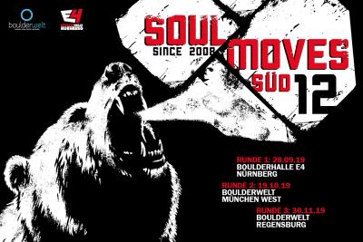 Soulmoves Süd 12 geht dieses Jahr mit der zweiten Runde am 19.10.19 erstmalig in der Boulderwelt München West weiter.