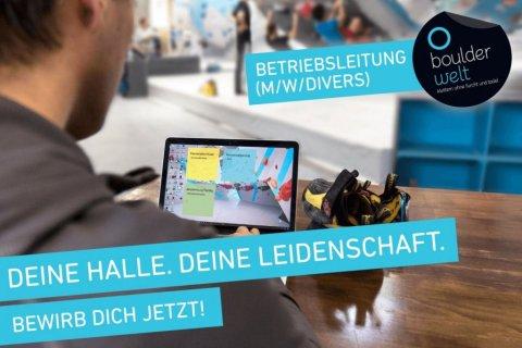 Stellenausschreibung Betriebsleitung München Halle Boulderwelt Job Beruf
