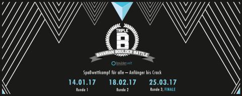 Bavarian Boulder Battle 2017 Triple B Spaßwettkampf für alle