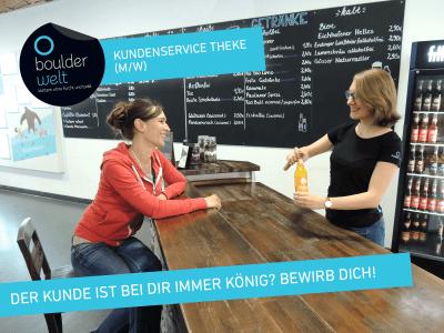 Stellenausschreibung Job Kundenservice Theke Bistro Boulderwelt Regensburg