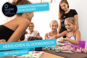Die Boulderwelt Regensburg sucht Trainer für Kindergeburtstage