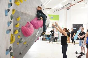 Eindrücke von der Tech Session in der Boulderwelt München West