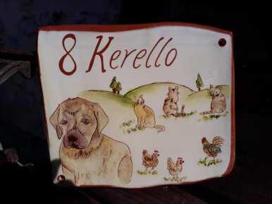 Plaque de maison personnaliséen décoration animaux et chien