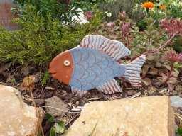 Poisson décoratif pour jardiniere