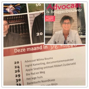 Interview in De Riepe Straatmagazine Noord-Nederland dec 2017