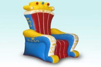 ACC-KC- Large Inflatable King Chairs  Bounce Time ...