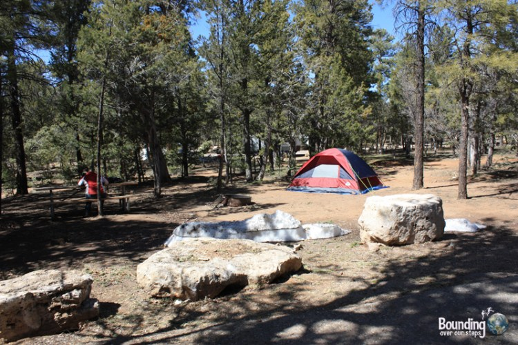 Our campsite at Grand Canyon National Park