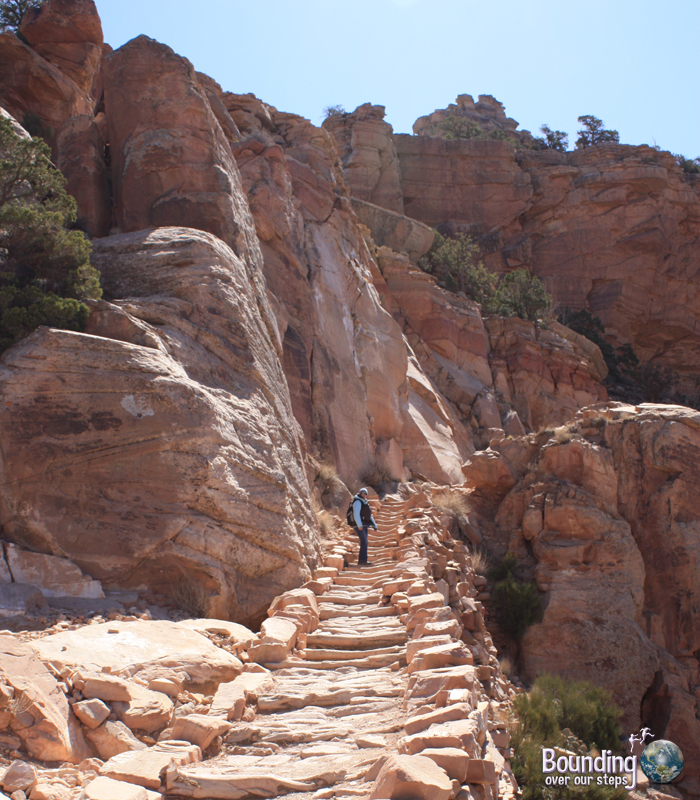 Hike up from Ooh Aah Point in Grand Canyon National Park