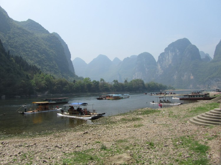 Hiking Along the Li River - Yangshuo - Boats
