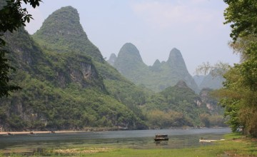 Hiking Along the Li River - Yangshuo - River and Karst Peaks