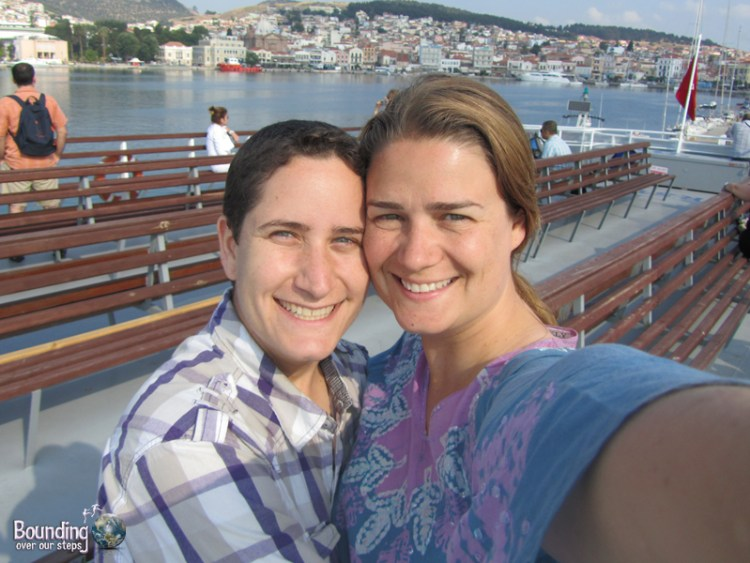 On the ferry from Lesbos back to Turkey