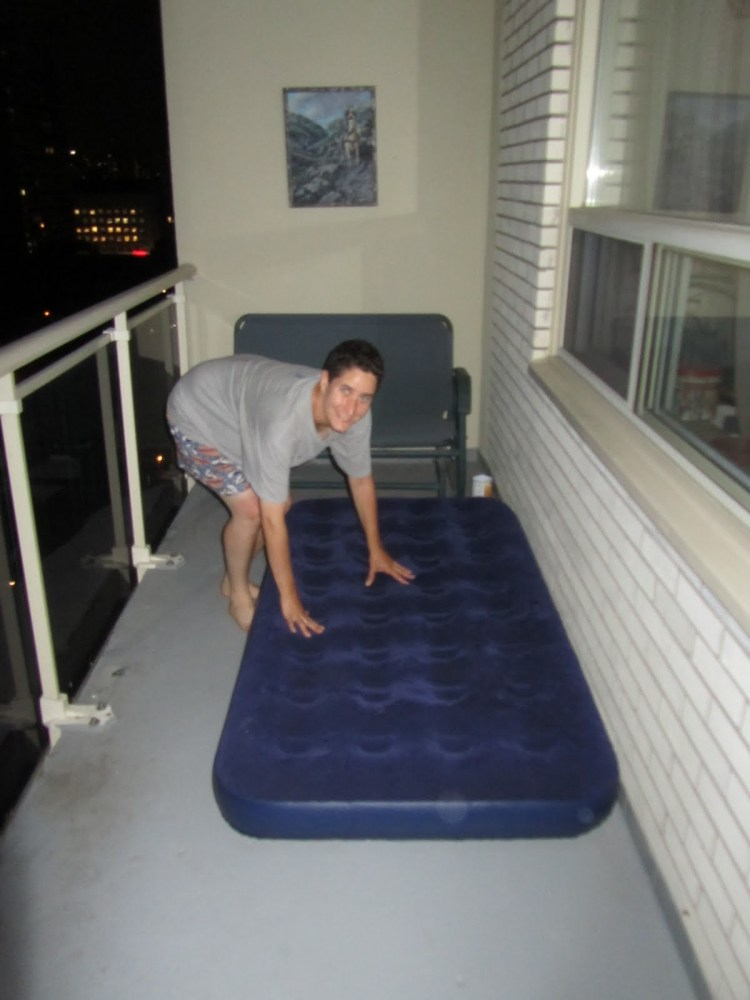 Sleeping on the Balcony - Mattress Firmness