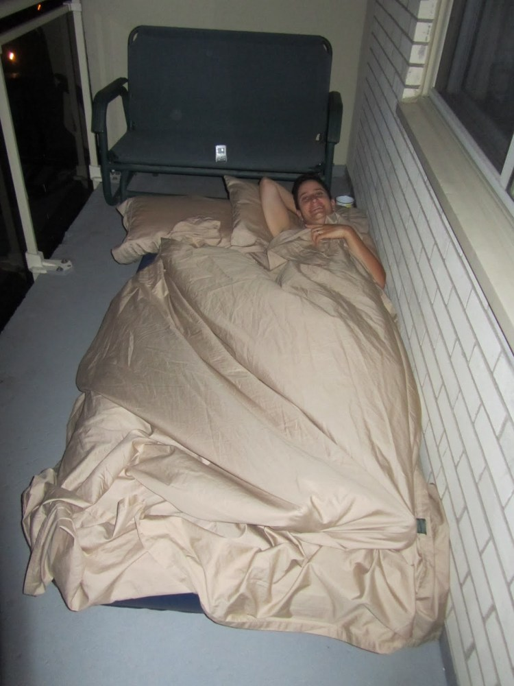 Sleeping on the Balcony - Sheets