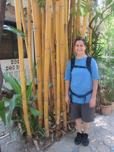 Impressions of Chiang Mai - Mindy with Bamboo