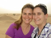 Ligeia and Mindy in Abu Dhabi, UAE