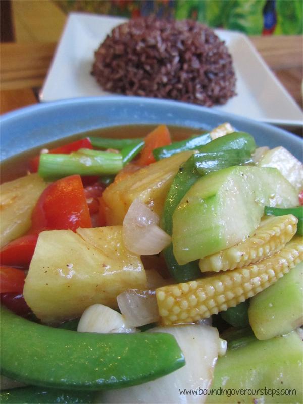 Sweet & Sour Vegetables at Anchan Vegetarian Restaurant, Chiang Mai