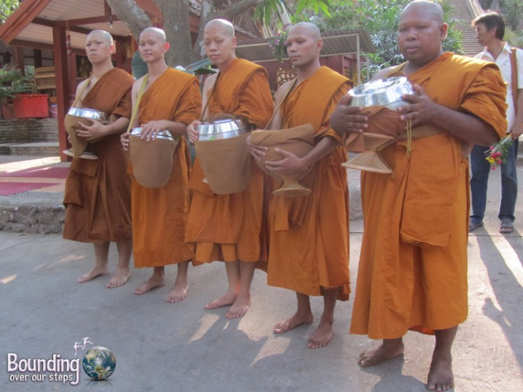 Monks being ordained at Wat Umong in Chiang Mai, Thailand