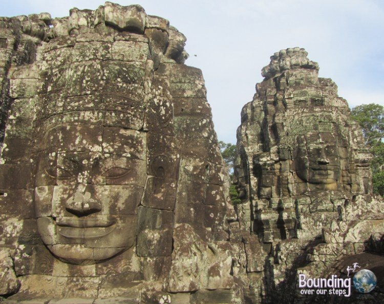 The photogenic faces of Bayon Temple in Angkor Wat, Cambodia
