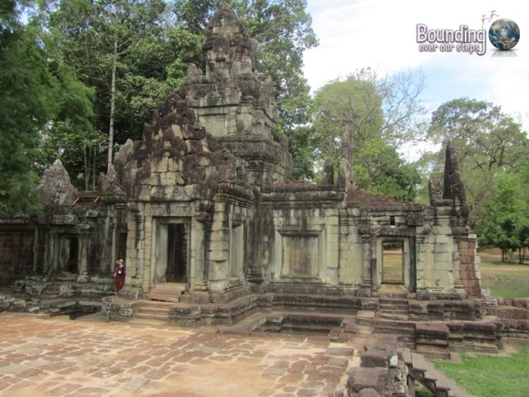 The entrance to Phimeanakas ruins at Angkor Wat, Cambodia