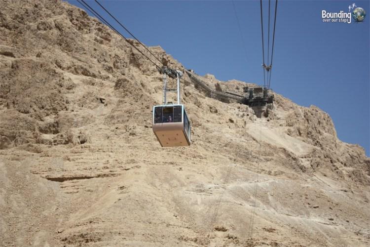 The gondola ride up to Masada takes 3 minutes