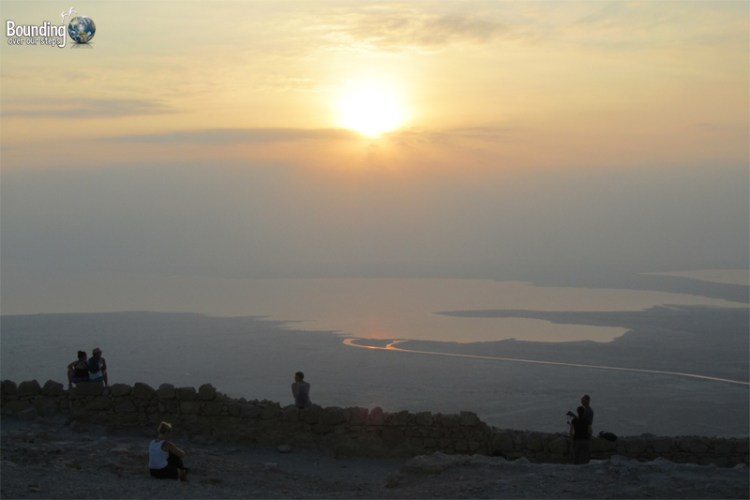 The sunrise over the mountains from the top of Masada made the hike worth it!