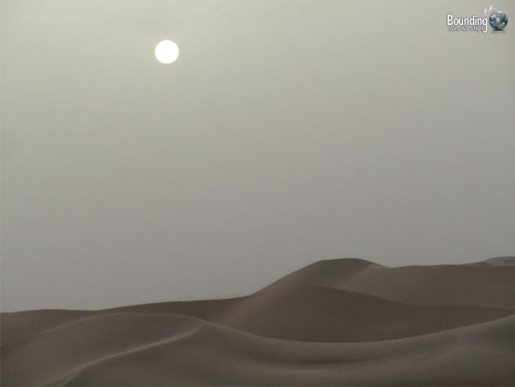 The desert dunes of Abu Dhabi