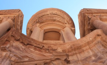 At Petra, the view of the Monastery from below