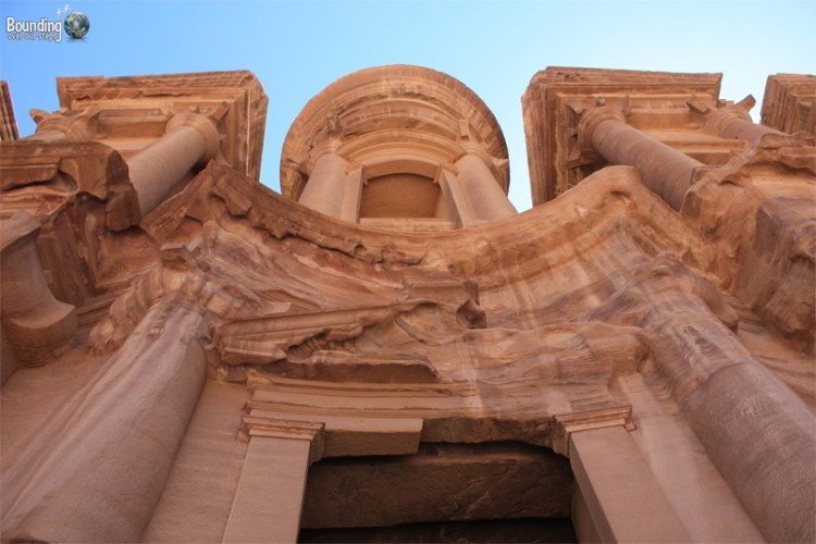 A dramatic view of the Monastery at Petra