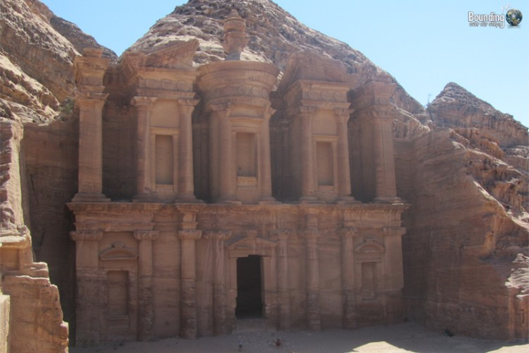 The gorgeous Monastery at Petra