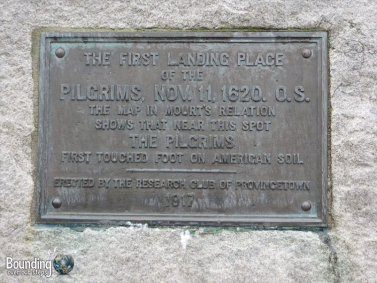 Pilgrim Rock - First Landing in Provincetown