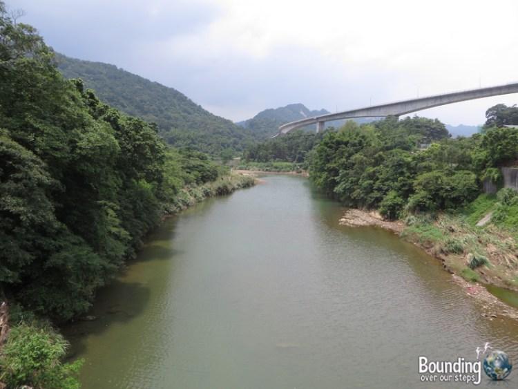 Finding Shifen Falls - Taiwan - View from Bridge