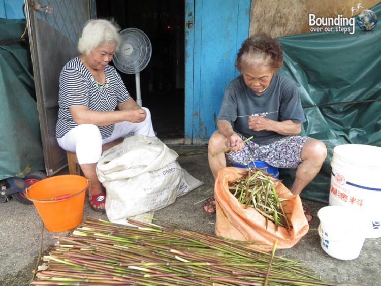 Finding Shifen Falls - Taiwan - Women and Bamboo