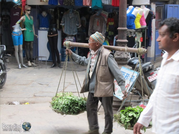 People of Nepal - Man Carrying Food