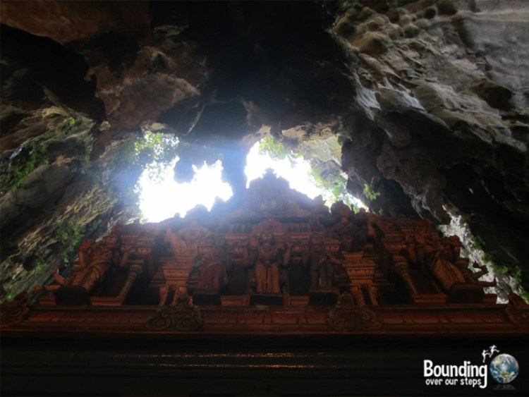 View of the ceiling of the Batu Caves