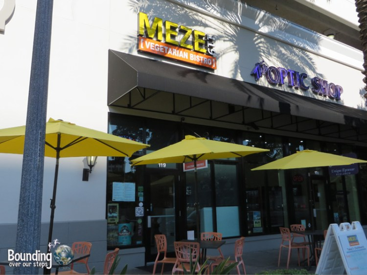 Meze Vegetarian Restaurant - Patio