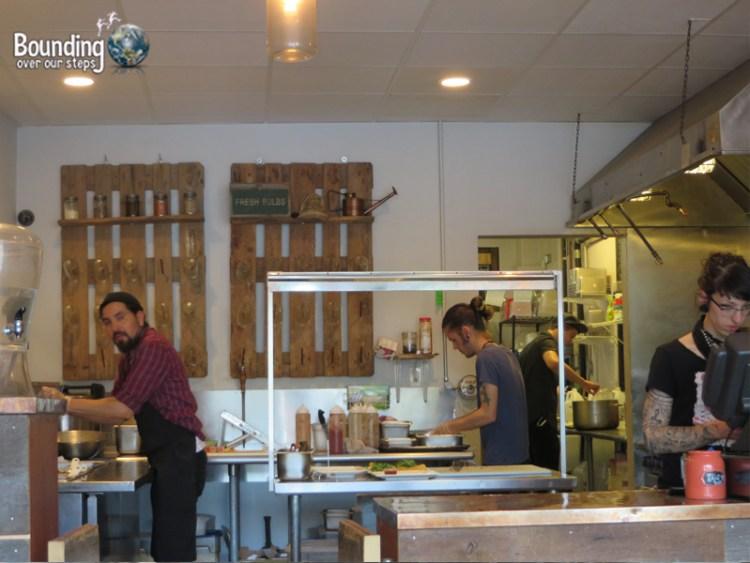 Root Vegan Restaurant - Open Kitchen