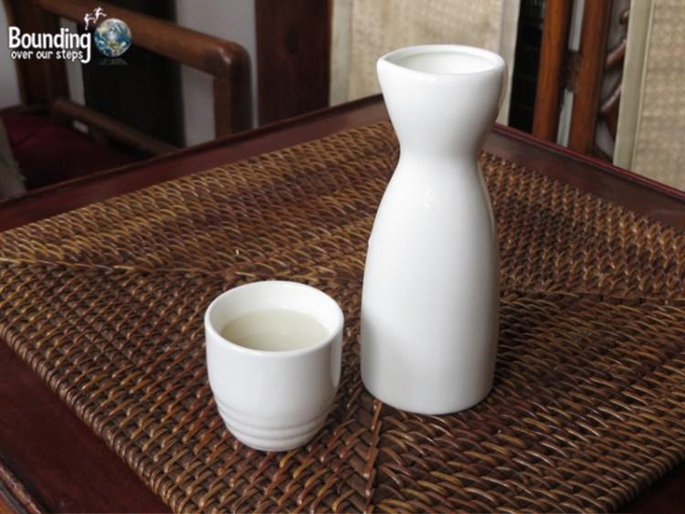 """Unfiltered """"Pearl"""" Sake"""