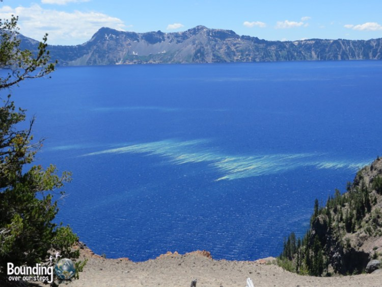 Pic 7 - Crater Lake - near Pumice Point, yellow in the water is pollen