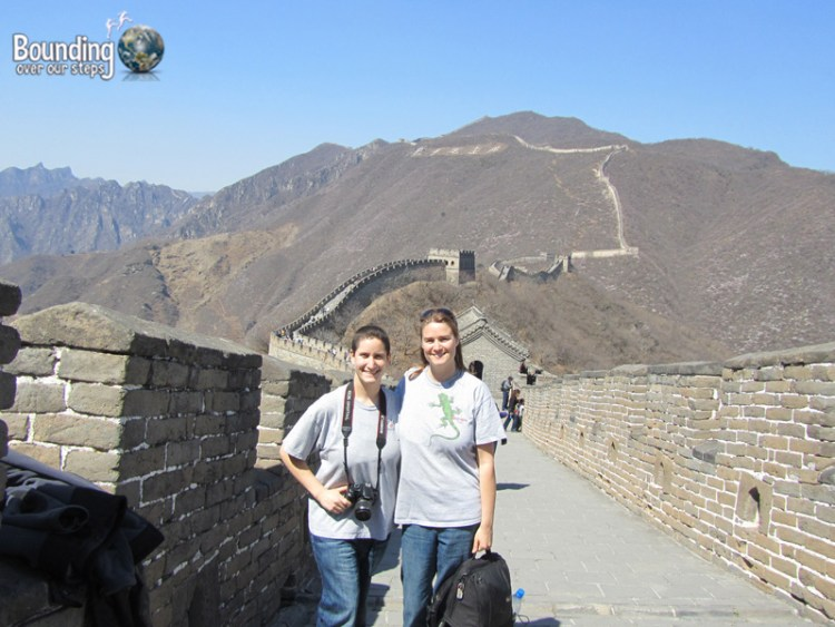 Hiking on the Mutianyu section of Great Wall of China