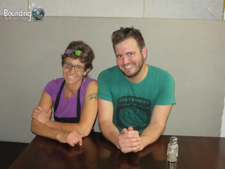 The Lunch Room - Vegan Restaurant - Owners Phillis and Joel