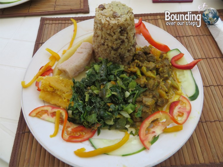 Vegan in Jamaica - Ital Food - Rice and Pigeon Peas