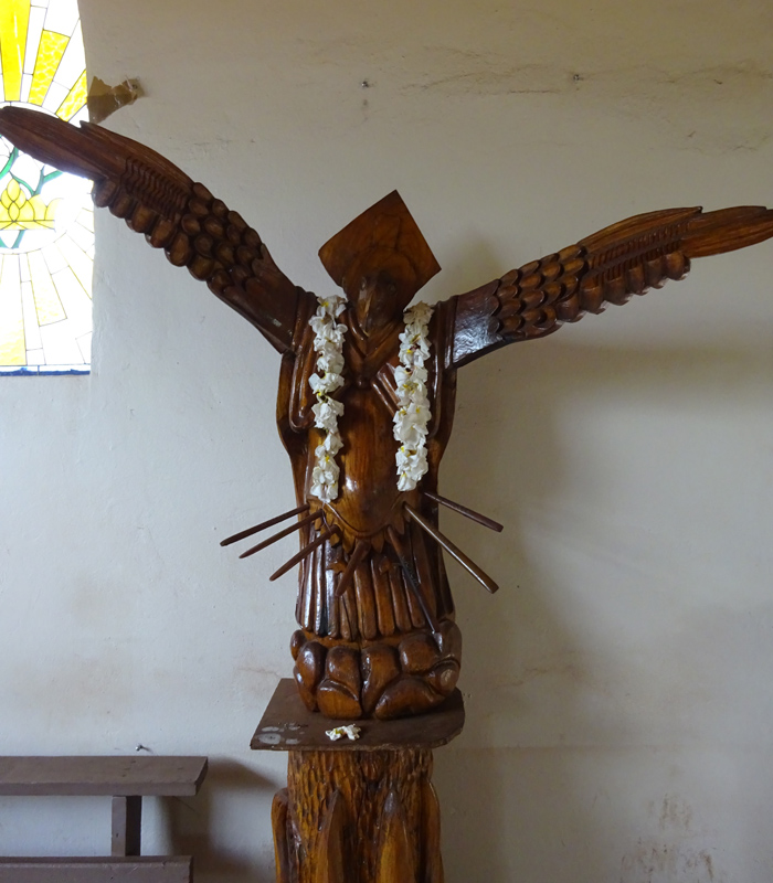 Church at Easter Island - Wooden Carving